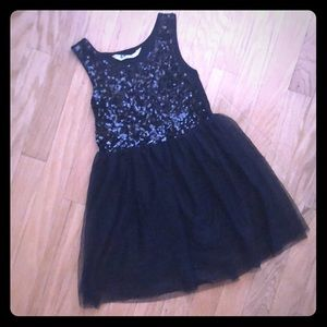 H&M Black Sequined and Mesh Dress